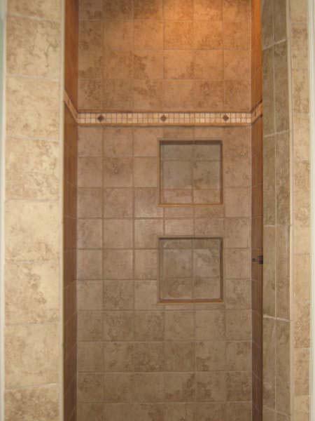 earth toned tile shower